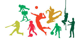 people participating in different sports