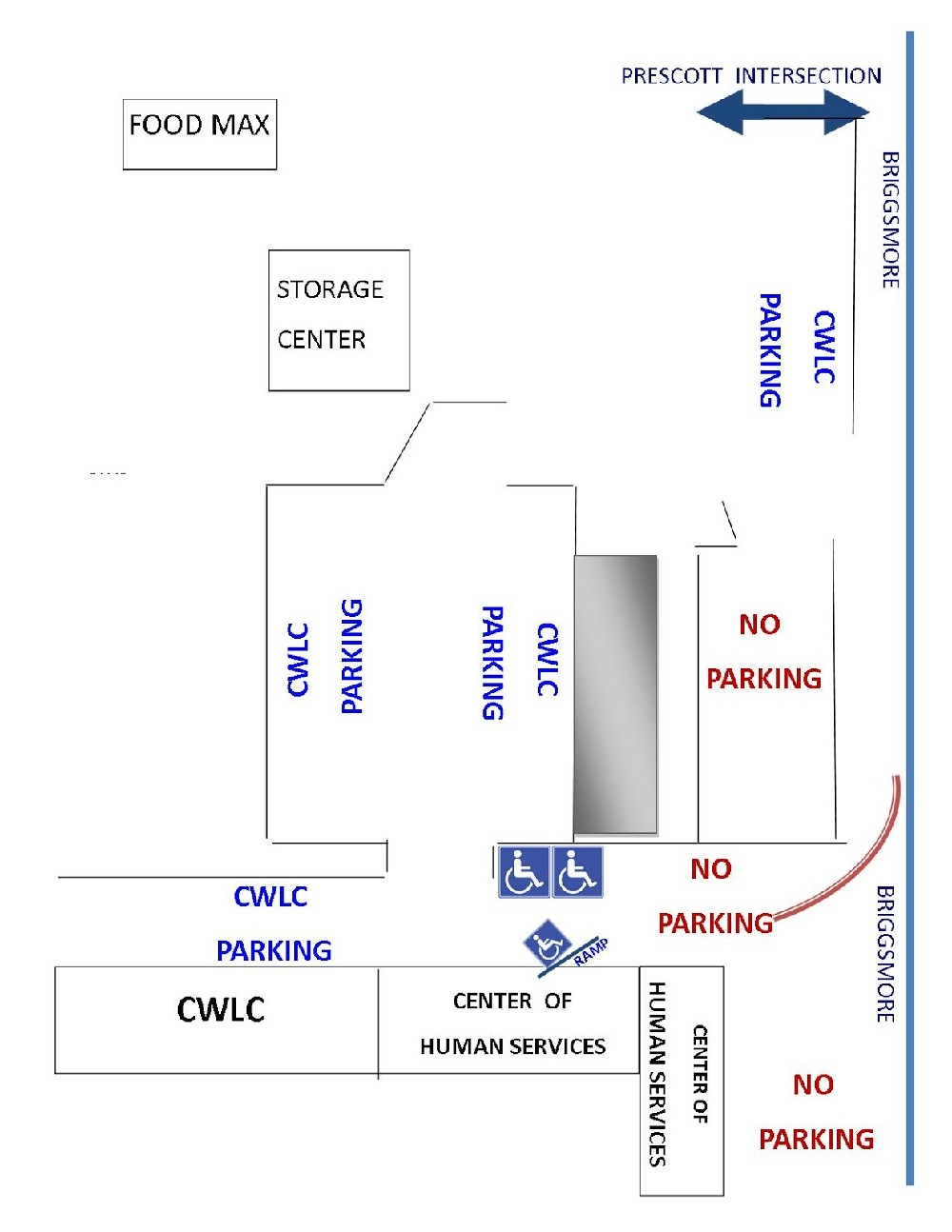 map of CWRC parking lot